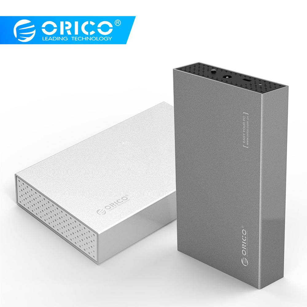 ORICO 3.5'' HDD Enclosure USB3.1 Type-C Hdd Adapter For Samsung Hard Disk Drive Box 10TB Max External Storage HDD Case(Sliver)