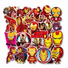 35PCS Super Hero Iron Man Stickers Cool Marvel Avengers DIY On The Car Motorcycle Luggage Laptop Bicycle Diary Toy