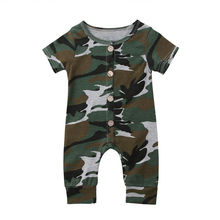 Newborn Infant Baby Boy Girl Clothes Kids Camo Romper Jumpsu