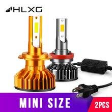 Автомобильные фары hlxg H4 LED H7 Canbus HB3 HB4 светодиодный H11, автомобильные передние противотуманные фары, высокие и низкие диодные лампы для автомобилей 12 В 4300K 6000K 8000K