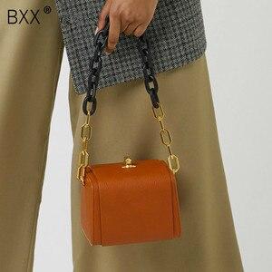 Image 1 - [BXX] Quality PU Leather Crossbody Bags For Women 2020 Box Shaped Shoulder Messenger Bag Lady Travel Handbags and Purses HJ716