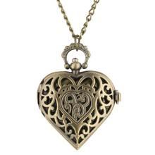 Buy Special Love Heart Pocket Watch Women Chain Clock Necklace Chain Quartz Pendant Watch Valentine Gift orologio da taschino directly from merchant!