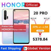 Version mondiale HONOR 20 Pro Google Play Smartphone 6.26 ''8GB 256GB Kirin 980 Octa Core 48MP caméra téléphone Mobile Android NFC