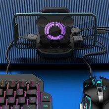 PUBG المحمول غمبد تحكم الألعاب لوحة المفاتيح ماوس محول ل IOS أندرويد الهاتف إلى الكمبيوتر أذرع التحكم في ألعاب الفيديو حامل مروحة التبريد