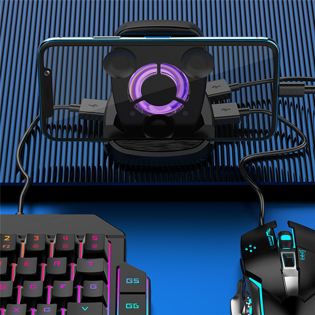 PUBG Mobile Gamepad Controller Gaming Keyboard Mouse Converter For IOS Android Phone to PC Game Controller Holder Cooling Fan