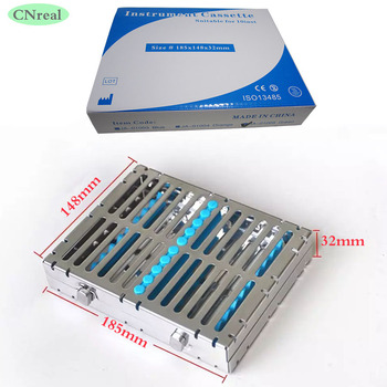 1 Piece Dental Disinfection Sterilization Brackets Cassette Case Rack Tray Box for 10 Pieces Surgical Instruments 1set silver aluminium alloy sterilization tray case surgical instrument box with silicone pad