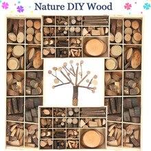 Juguete de Arte de madera natural para niños, creativo y Original, hecho a mano, bloque de madera, Rama, dibujo, juguetes educativos