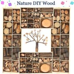 Kids DIY Nature Wood Art & Craft Toys Creative Original Handmade Wooden Block Twig Drawing On Wood Educational Toys For Children