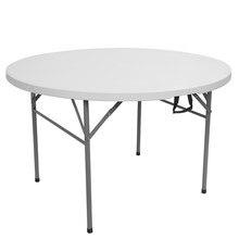 32/48 zoll Runde Klapptisch Outdoor Folding Utility Tisch Weiß