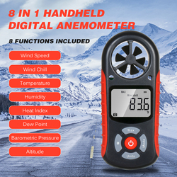 8 in 1 Digital Anemometer Wind Speed/Wind Chill/Temperature/Humidity/Heat Index/Dew Point/Barometric Pressure/Altitude Meter