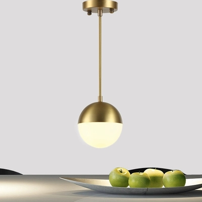 Brass Glass Ball LED Pendant Lights Fixtures Dinning Room Nordic Simple Modern Pendant Lamp Hanging Light Lampara Colgante