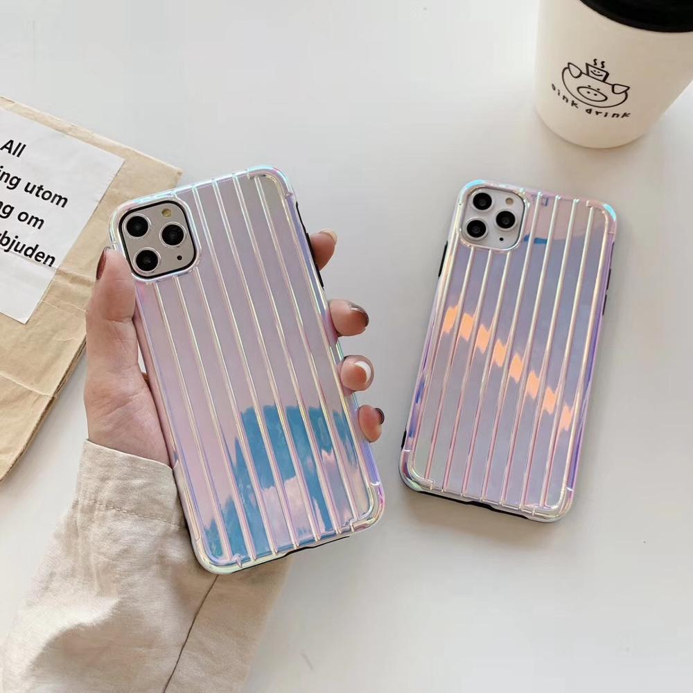 Luxury Multicolor Plating Trunk Case For iPhone 11 11Pro Max Soft Shockproof Case For iPhone 8 7 Plus X XS Max XR Cover Fundas