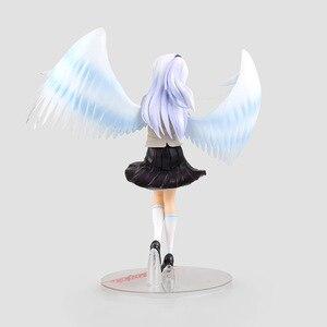 Image 4 - 1/8 21Cm Anime Mới Angel Beats Tenshi Tachibana Kanade Trắng Thiên Thần Của Cánh Đồng Phục Ver PVC Tập Thể Hành Động hình Búp Bê