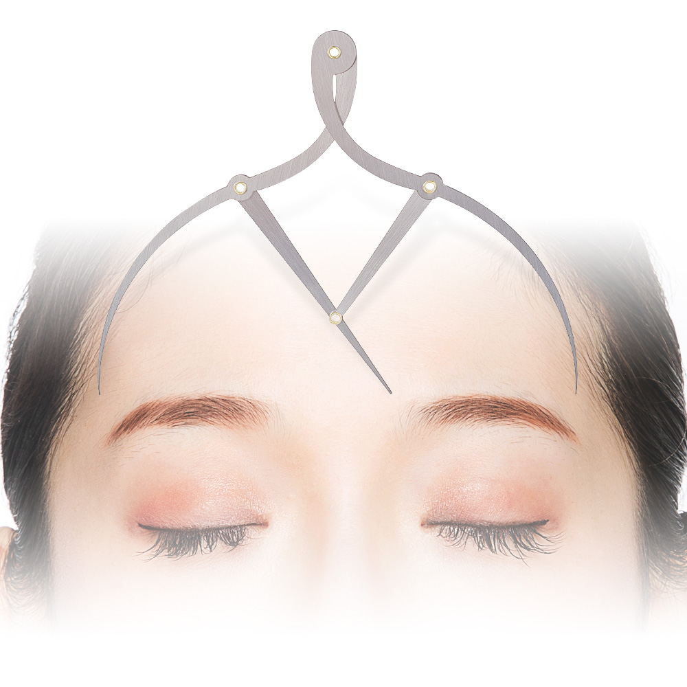 Metal Eyebrow Tattoo Ruler Golden Ratio Caliper Stainless Microblading For Permanent Makeup Shaping
