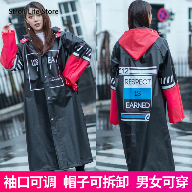 Long Raincoat Women Adult Rain Poncho Hiking Rain Coat Jacket Thicken Waterproof Suit Transparent Plastic Suit Impermeable Gift 1