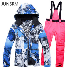 Ski suit set new men women waterproof warm breathable ski pants single double board Unisex  snow suit men women ski clothes