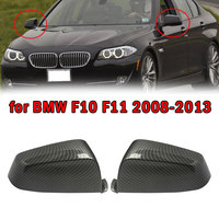 MagicKit Carbon Fiber Look Rearview Mirror Cover For 08-13 BMW 5 Series F10 520i 528