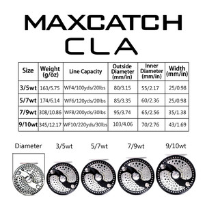 Image 2 - Maximumcatch 3 11WT الفرس أو القرص سحب الكلاسيكية يطير الصيد بكرة خفيفة الوزن ماكينة بتحكم رقمي بالكمبيوتر قص T6061 الألومنيوم يطير بكرة
