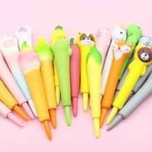 Cartoon slow rebound Pu vent decompression pen soft students use kneading pen lovely neutral pen creative decompression pen