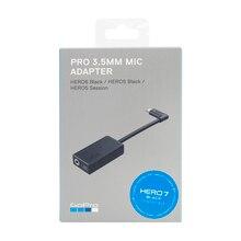 GoPro Pro 3,5 мм Mic адаптер для HERO 8 HERO 7 HERO 6 HERO 5 Black Hero 5 Session AAMIC 001 Go Pro официальный оригинальный аксессуар