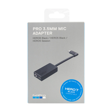 GoPro  Pro 3.5mm Mic Adapter for HERO 8 HERO 7 HERO 6 HERO 5 Black Hero 5 Session AAMIC 001 Go Pro Official Original Accessory