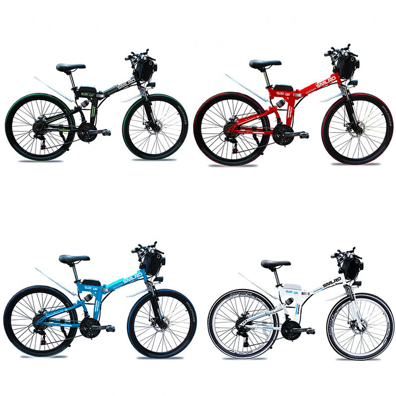 factory Price ready to ship electric bike 350W/500W 26 inch folding bike electric bicycle with 10Ah/13Ah battery 6