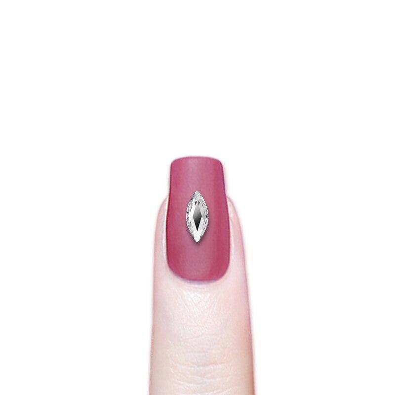 MARQUISE 8x3.5mm Crystal Clear 2201 Swarovski Flatback Rhinestones Nail 36 pcs
