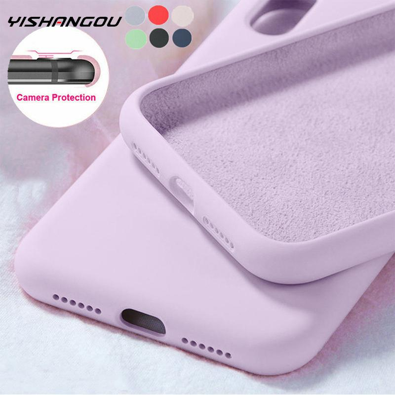 2020 New Style Luxury Original Silicone Protect Soft Cover For iPhone 11 12 Pro SE 2020 X XR XS Max 7 8 6 s Plus 5s Phone Case