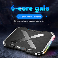 Laptop Cooler Notebook Cooling Pad 6 Fans 2 USB Ports LED Light Adjustable Laptop Stand Cooling Fan Pad For 12-17inch Laptop mini foldable usb cooling fan octopus notebook cooler cooling pad stand double fans for notebook laptop