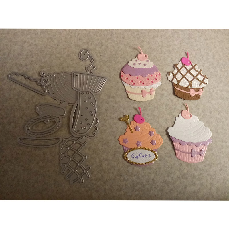 14ps Cute Delicious Cake Cup Metal Cutting Dies For DIY Scrapbooking Embossing Paper Card Photo Album Making Craft 2019 New