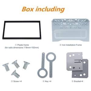 Image 3 - 2Din Fittings Kit Radio Head Unit Installation Frame General 2Din Fittings Kit Automotive Radio Player Box