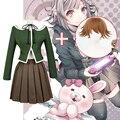 New Danganronpa V3 Cosplay costumes Chihiro Fujisaki uniform school uniform Coat / Skirt / coat Costumes for women Anime cosplay