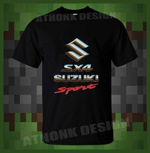 SUZUKI SX4 SPORT RALLY CAR T-SHIRT SUZUKI RACING TEAM T-SHIRT(China)