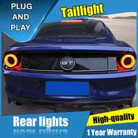 4 Uds estilo de coche para Ford Mustang GT luces traseras luces de 2015-2019 para Mustang GT luz trasera LED + señal + de + marcha atrás luz LED