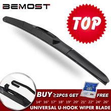 BEMOST Universal U-Type Car Wiper Blade 14 #8243 16 #8243 17 #8243 18 #8243 19 #8243 20 #8243 21 #8243 22 #8243 24 #8243 26 #8243 U Hook Windscreen Windshield Rubber Hybrid Auto Wipers cheap FRONT Natural Rubber 2017Year HD clean windscreen 0inch ISO9000 BE-SJTYQ-01