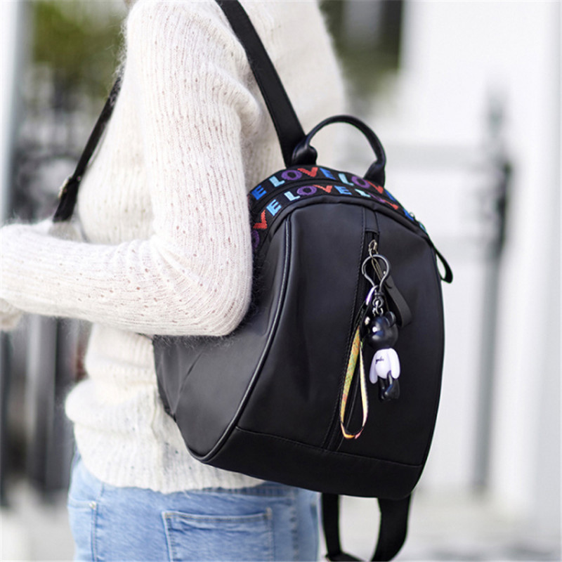 2019 Top Female Backpack Women Fashion Lady Shoulders Small Femal Backpack Black Oxford Purse Mobile Phone Bag