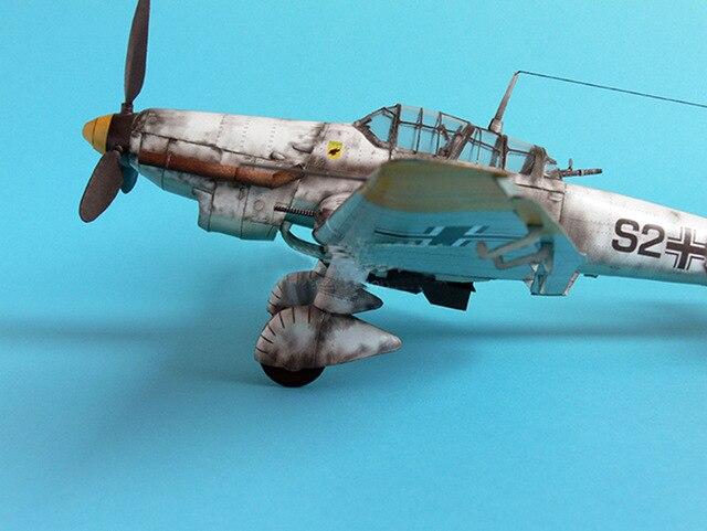 1:33 German Ju-87 D-3 Stuka Dive Bomber DIY 3D Paper Card Model Building Sets Educational Toys Military Model Construction Toys 5