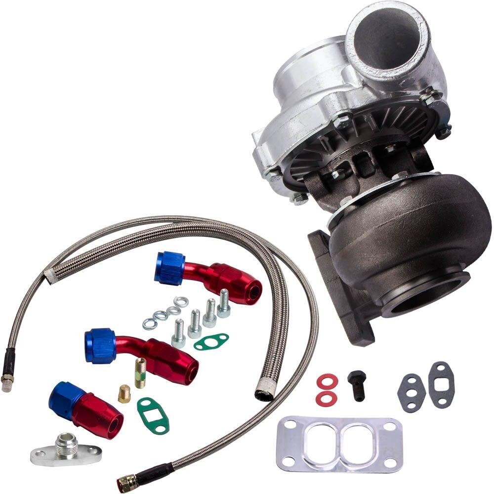 T70 Turbo Turbocompressore T3 Flangia 0.7 a/R di Scarico Olio Olio di Ritorno Linea di Alimentazione Tubi 500BHP 1.8L 3.0L motori Universale Turbo Turbina