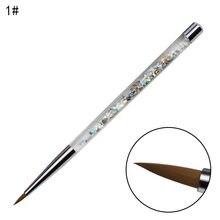 Juego de pinceles para manicura profesional, pinceles para pintura acrílica de diamantes de imitación, Kit de esmalte de Gel UV, gradiente de forro de uñas
