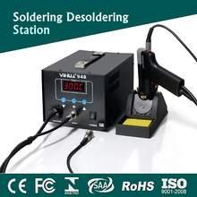 Profissional 2 em 1 digital elétrica sucção estanho ferro de solda lidar com desoldering estação reparação soldagem conjunto de ferro de solda