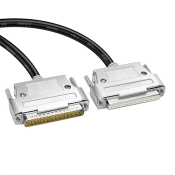 DB37 kabel do transmisji danych męski na żeński z męskiego na męskie żeński do żeńskiego 37 Pin kabel przedłużający 26AWG OD 10mm czystej miedzi podwójna tarcza