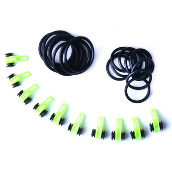 10 Set Plastic Fishing Hook Keeper Holder Hooks Keeper for Fishing Rod Pole Fishing Lures Bait Safety Holder Fishing Accessories - A - Green - 10set, China