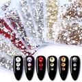 1440 шт./упак. 2020 дизайн; Многоразмерные х ногтей стразы кристаллы AB прозрачные хрустальные камни для украшения для ногтей аксессуары