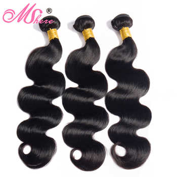 3 Bundles Brazilian Body Wave Hair Extensions 10-28in Mshere 100% Human Hair 4 Bundles 300g Natural Color Non Remy Hair Weave - DISCOUNT ITEM  53% OFF All Category
