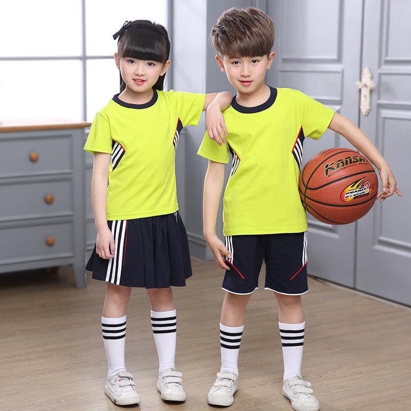 CHILDREN'S Dress Set Clothes Kindergarten Summer School Uniform 2019 Summer Childrenswear Men And Women Children Short Sleeve Sp