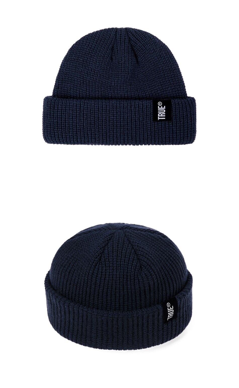 2019 Fashion Unisex Winter Hat Men Cuffed Cib Knit Hat Short Melon Ski Beanies Autumn Winter Solid Color Casual Beanie Hat 34