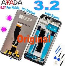 6.2 ''Nokia 3.2 TA-1156 TA-1159 TA-1164 LCD ekran dokunmatik ekran Digitizer meclisi çerçeve değiştirme ile Nokia 3.2 LCD için