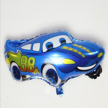 1PC Blue Color Car Foil Balloon Helium Balloon Cartoon Car Balloons Wedding Birthday Decoration Toy image