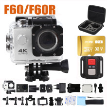 Actie Camera Ultra Hd 4 K Wifi Camcorders 16MP 170 Go 4 K Deportiva 2 Inch F60 30M Waterdicht sport Camera Pro 1080P 60fps Cam