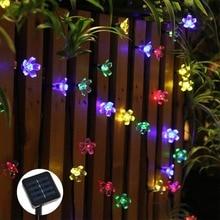 7М солнечные фонари сад светодиодные строки свет открытый гирлянды уличные гирлянда для сада газон украшение патио фестона
